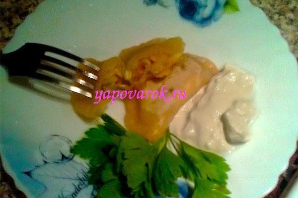 готовые вареники с капустой